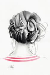Hair Study 4 by davepinsker