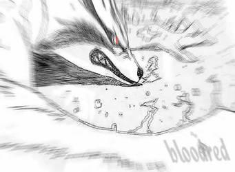 Kyuubi Unleashed by bloodredxxx