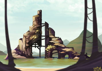 Practice: Rocks and brushes by wojtryb