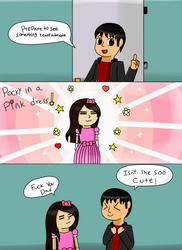 Pocky in a pink dress~! by nintenfan96