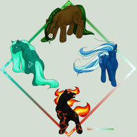 Elemental MLPs by SparklersOasis