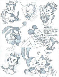 Oswald and Ortensia doodles by DB-artwork