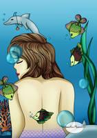 17th Birthday Challenge - Sea Mermaid by YanstarPrior250