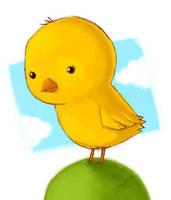 She is a Little Chicken by peerro
