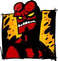 Hellboy by peerro