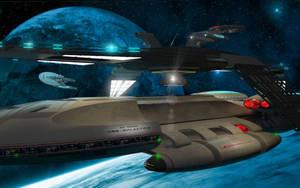 USS-Galactica at Kobol Station by Hummakavuula