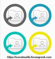 Folder icon avatars by IconSkoulikiGraphics