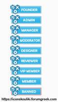 Hexagon ranks by IconSkoulikiGraphics