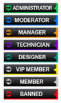 Design black ranks by IconSkoulikiGraphics