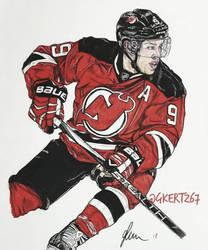 Taylor Hall NJ Devils Hockey  by RUDoomsday67