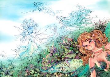 Spring garden by Tung-Monster