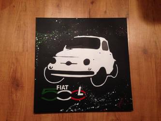 Stencil Fiat 500 L - Pochoirs FIAT 500 L by Megapoires