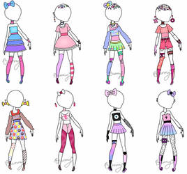 Cute Clothes Batch (open) by Homicidal-Bunny