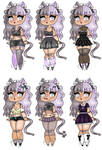 Violet Outfits by Homicidal-Bunny