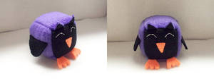 Purple Owl Cube Plushie by JeffSproul