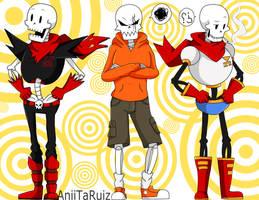 PAPYRUS's - change of clothes by AniiTaRuiz