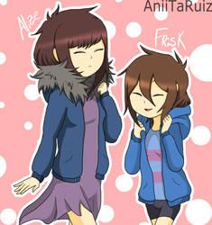 Alize And Frisk by AniiTaRuiz