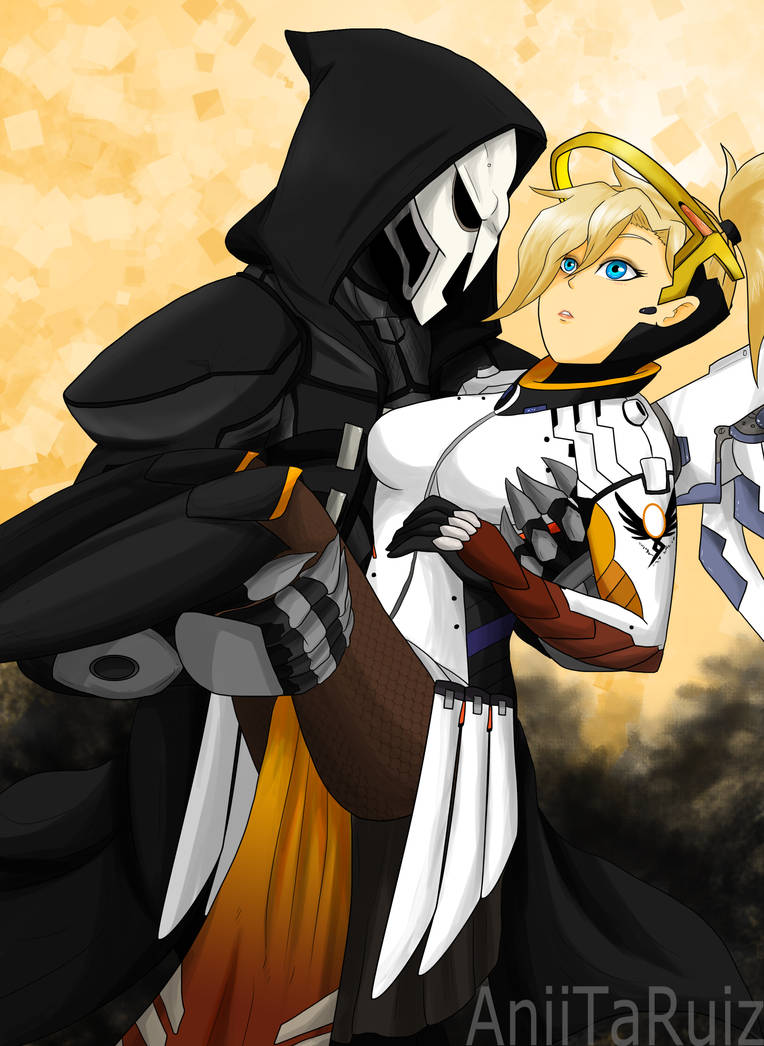 Overwatch - Reaper X Mercy by AniiTaRuiz