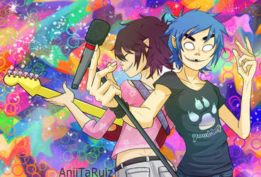2D x Noodle - Colors by AniiTaRuiz