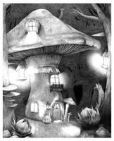 Mushroom Forest by 0bsidian