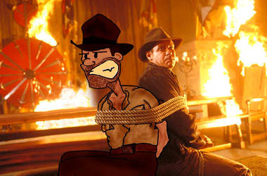 Indiana Jones with Indiana Jon by ridgl