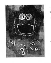 Cookie Monster Print by ridgl