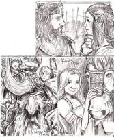 LOTR Commission sketch cards by RenaeDeLiz