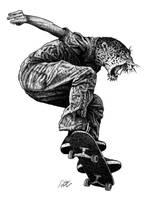 Skateboarding with attitude 1 by Mielikuvittaja