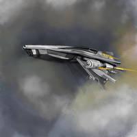 spaceship by Montyok