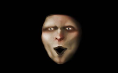 Creepy Clown Face by Montyok