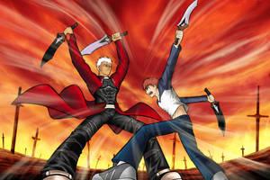 Archer vs Shirou by Shight