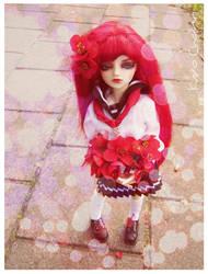 Miko - I am giving you flowers by KuroChann