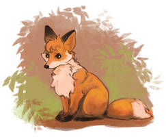 Little Fox by sans-art