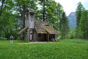 old wooden house by Wyonet