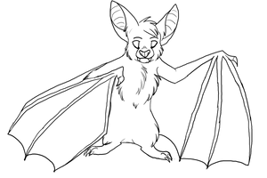 Bat lineart by feathursadopts