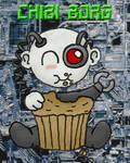 Chibi Borg loves muffins by EvilJoel
