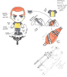 Infamous 2 Cole custom plushie concept art by sewcuteplushies