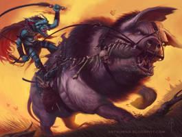 War Hog Mogg Marauder by FlammablePerson