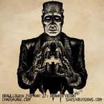 Drawlloween - Franken Friday by SavageSinister