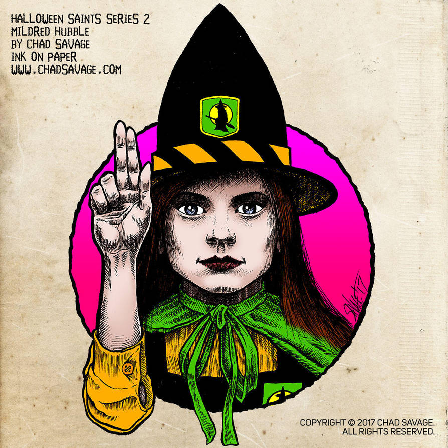 Halloween Saints Series 2: Mildred Hubble by SavageSinister