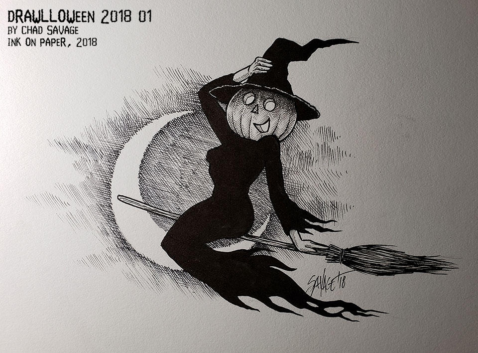 Drawlloween 2018 01 by SavageSinister