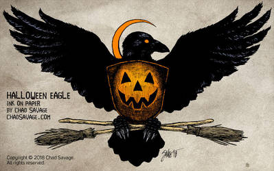 Halloween Eagle by SavageSinister