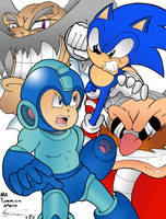 Crossover Sonic Vs Mega Man Round 1 by MrTumminia