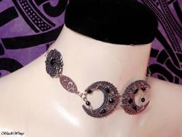 Moon Choker by BlackWings-jewelry