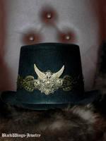 Steampunk top hat by BlackWings-jewelry