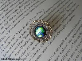 Black opal ring by BlackWings-jewelry