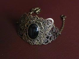 Black butterfly cuff by BlackWings-jewelry