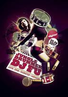 jungle drummer vs dj fu flyer by south