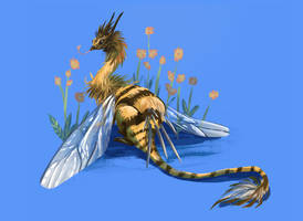 Tiny Insect Dragons - Bee by Loonaris