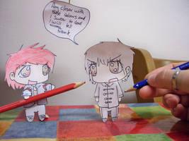 Paper Child - B+W Vs Colour by xYamiKawaitax